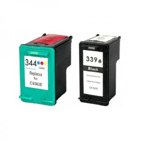 Komplet kartuš HP 339 XL in HP 344 XL