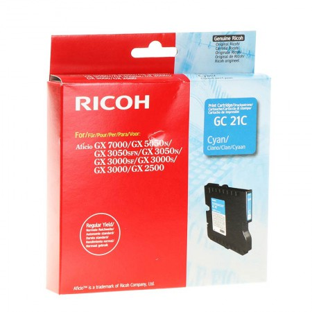 Kartuša Ricoh GC21C Cyan / Original