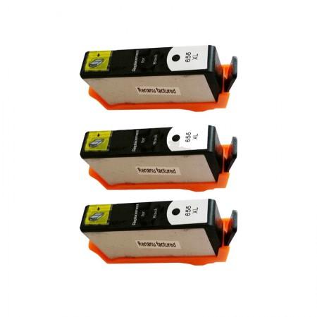 Kartuša HP 655 Black XL / Trojno pakiranje