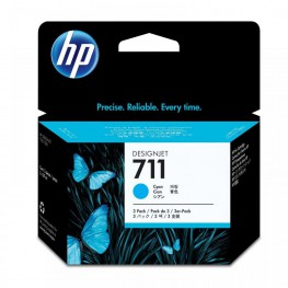 Kartuša HP 711 Cyan 3-Pack / Original