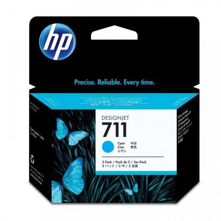 Kartuša HP 711 Cyan 3-Pack / Original