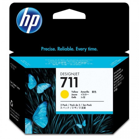 Kartuša HP 711 Yellow 3-Pack / Original