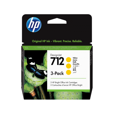 Kartuša HP 712 Yellow 3-Pack / Original