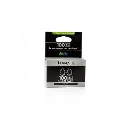 Kartuša Lexmark 100 XL Black / Dvojno pakiranje / Original