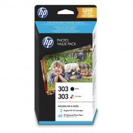 Komplet kartuš HP 303 / Original + Foto papir