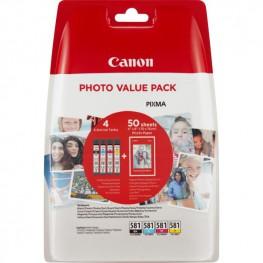 Komplet barvnih kartuš Canon CLI-581 + Foto papir / Original
