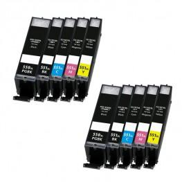 Komplet kartuš Canon PGI-550 XL in CLI-551 XL / Dvojno pakiranje