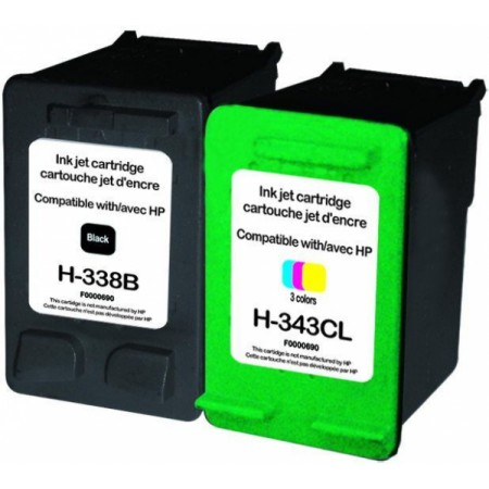 Komplet kartuš HP 338 XL in HP 343 XL