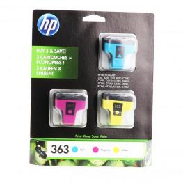 Komplet barvnih kartuš HP 363 (CMY) / Original