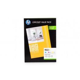 Komplet barvnih kartuš HP 903 XL (CMY) + Foto papir / Original