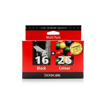 Komplet kartuš Lexmark 16 Black in Lexmark 26 Color / Original