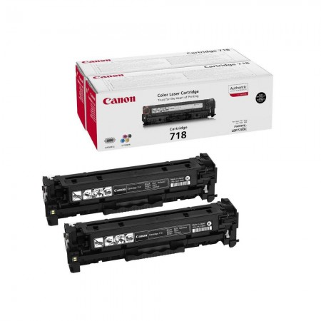 Toner Canon CRG-718 Black / Dvojno pakiranje / Original