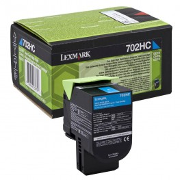 Toner Lexmark 70C2HC0 / 702HC Cyan / Original