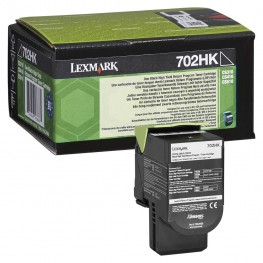 Toner Lexmark 70C2HK0 / 702HK Black / Original