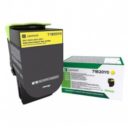 Toner Lexmark 71B20Y0 Yellow / Original