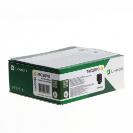 Toner Lexmark 74C20Y0 Yellow / Original