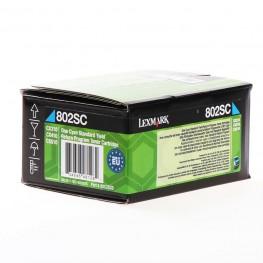 Toner Lexmark 80C2SC0 / 802SC Cyan / Original