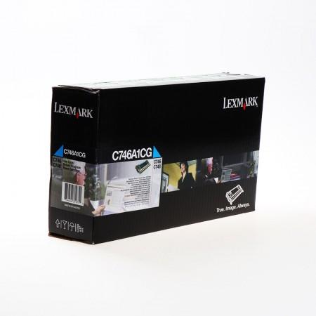 Toner Lexmark C746A1CG Cyan / Original