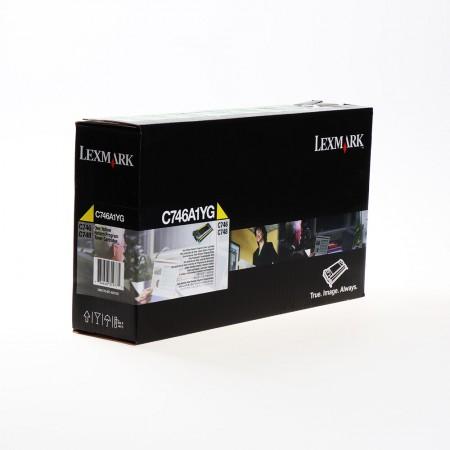 Toner Lexmark C746A1YG Yellow / Original